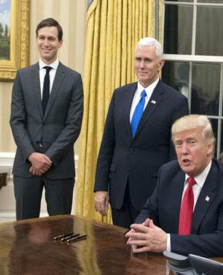 Trump felicitates two Indian-American businessmen